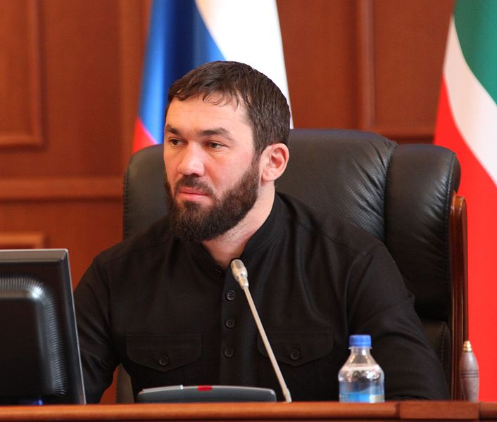 Magomed Daudov in his role as the speaker of parliament