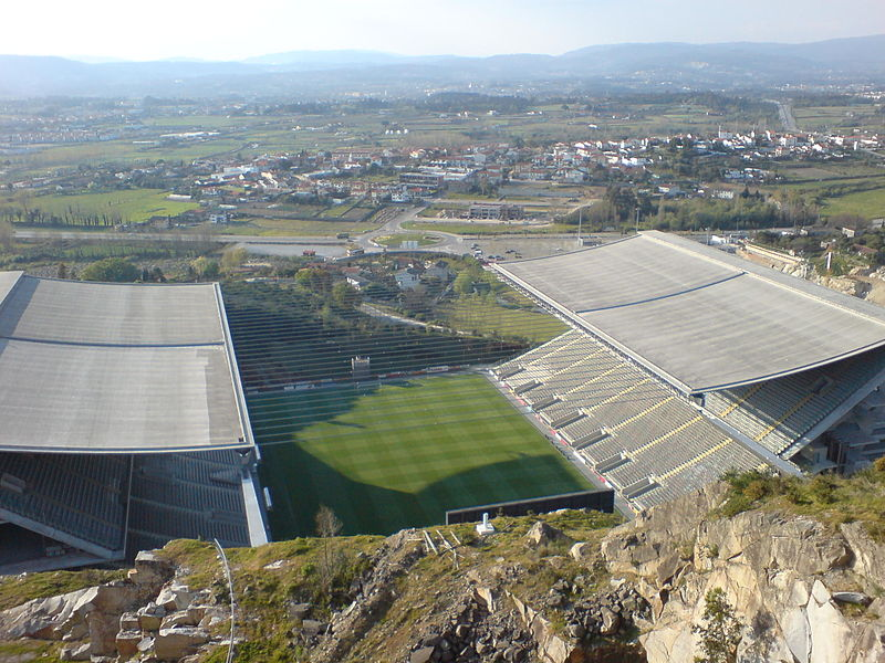 The Europa League match Braga vs Shakhtar will take place at the Estádio Municipal de Braga - Image by 準建築人手札網站 Forgemind ArchiMedia CC-BY-2.0
