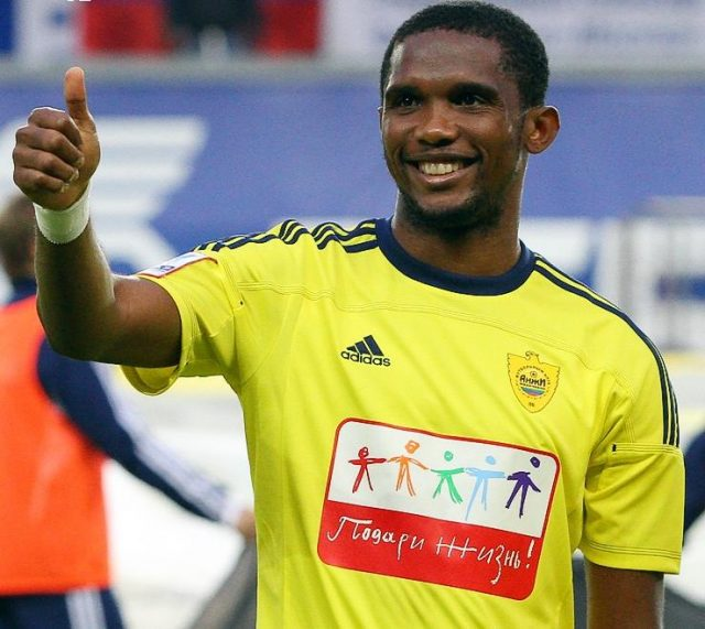 Samuel Eto'o was one of the superstars, who signed for Anzhi Makhachkala in 2011 - Image by Vladimir Maiorov CC-BY-SA-3.0