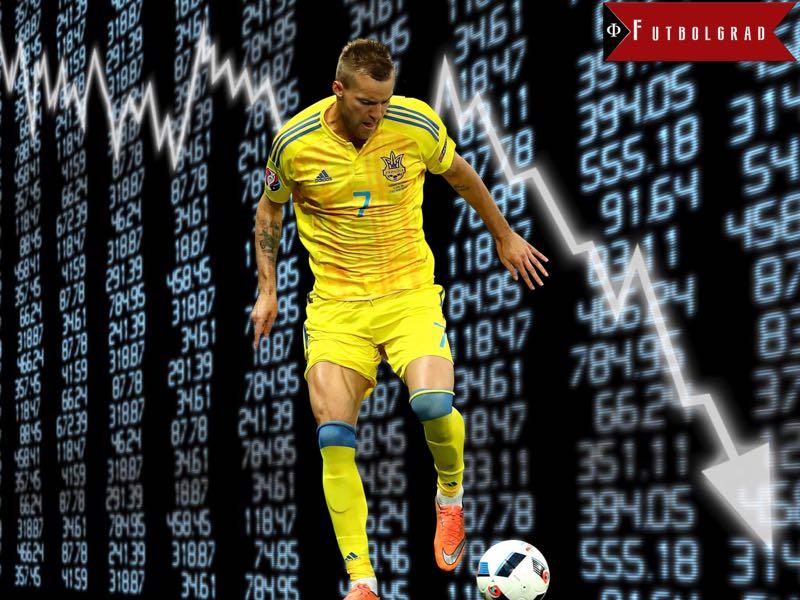 Andriy Yarmolenko's Falling Stock Price