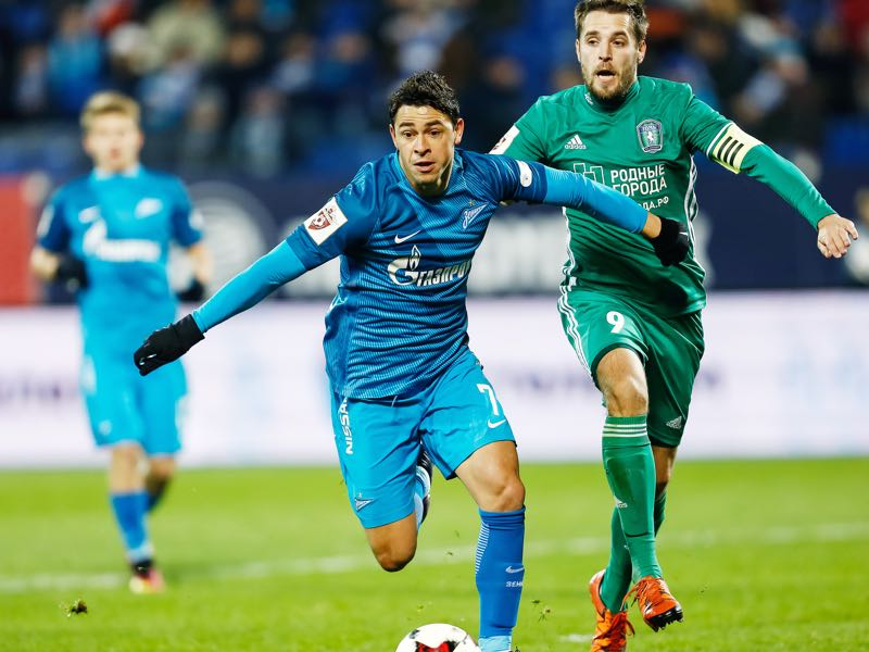Zenit's Giuliano has been one of the most entertaining players of the Europa League this season. (Photo by Epsilon/Getty Images)