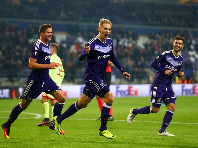 Łukasz Teodorczyk has been on fire for RSC Anderlecht this season. (Photo by Dean Mouhtaropoulos/Getty Images)