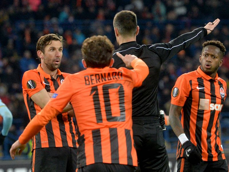 Shakhtar's shock defeat to Celta means that there won't be any Ukrainian Premier League teams in the round of 16 in any European competition this season. GENYA SAVILOV/AFP/Getty Images)