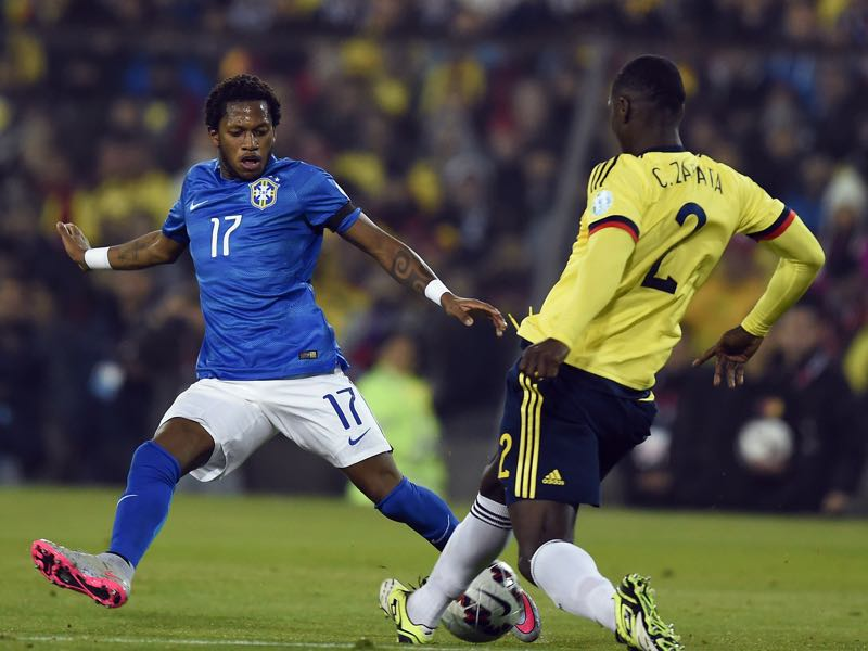 Fred was tested positive while playing for Brazil at the 2015 Copa América in Chile. (PABLO PORCIUNCULA/AFP/Getty Images)