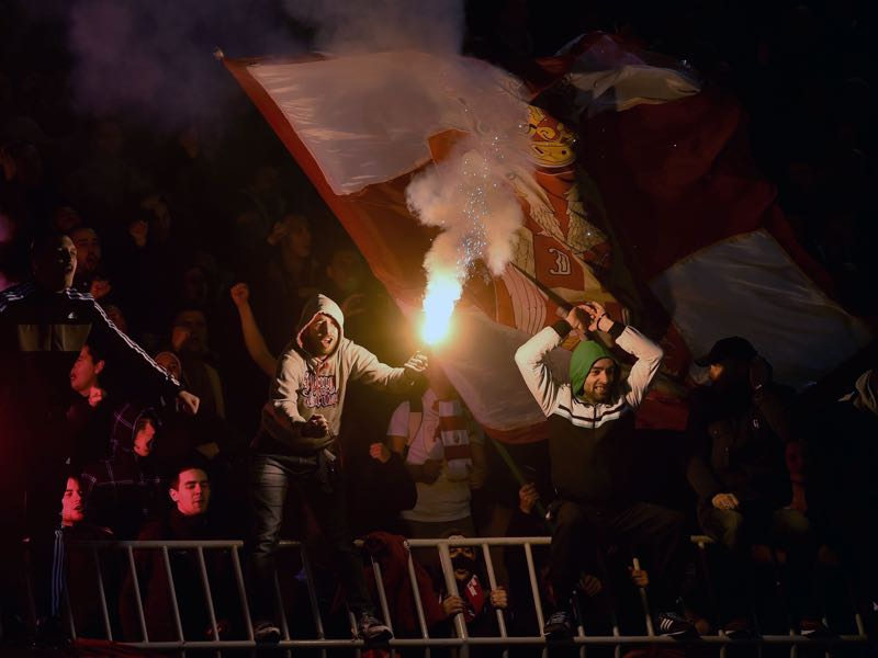 The Eternal Derby is always a heated affair. (ANDREJ ISAKOVIC/AFP/Getty Images)
