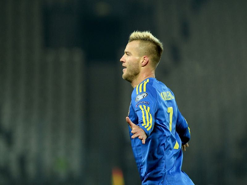 Andriy Yarmolenko will be Ukraine's key player. (JANEK SKARZYNSKI/AFP/Getty Images)