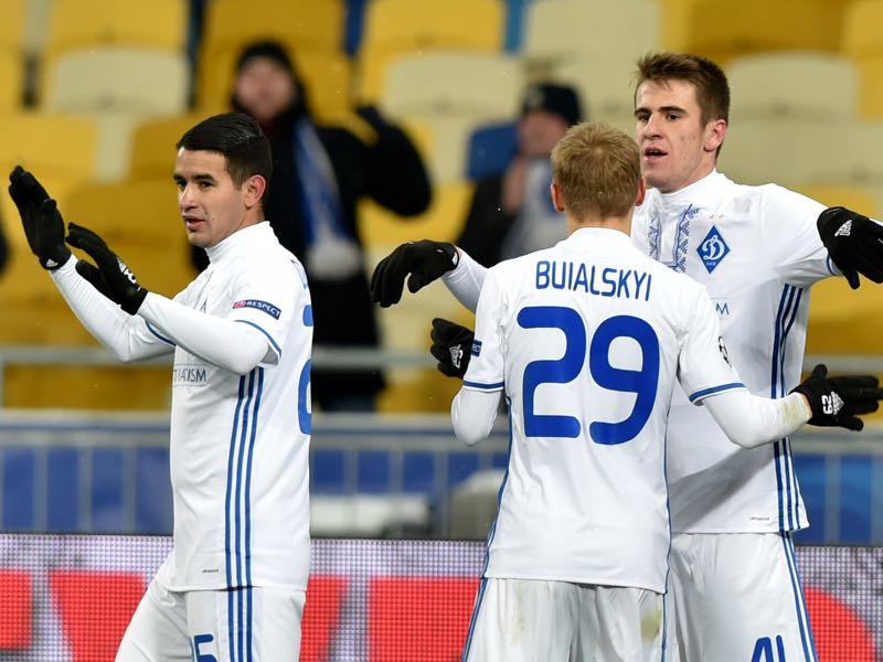 Dynamo Kyiv also disappointed in Europe this season (SERGEI SUPINSKY/AFP/Getty Images)