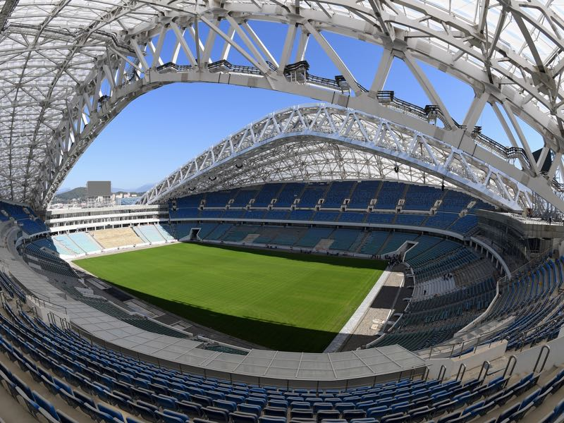 Russia vs Belgium will take place at the Fisht Stadium in Sochi (Photo by Matthias Hangst/Bongarts/Getty Images)