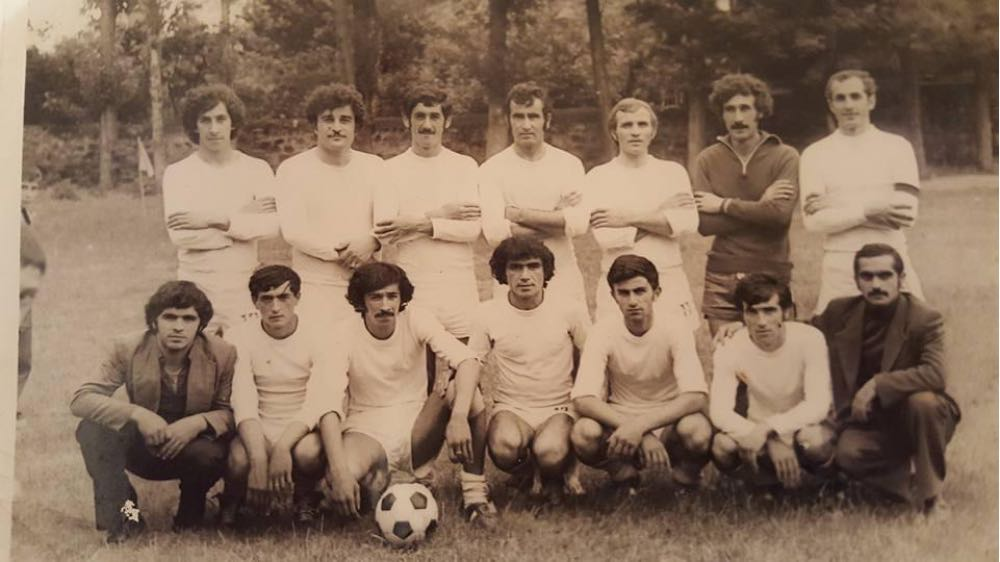 Allahverdi Bagirov and his football team.