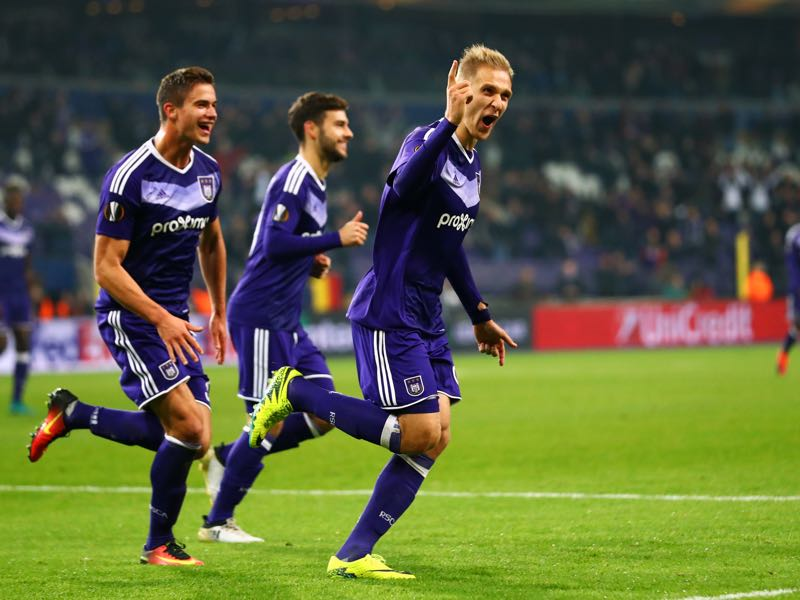 Lukasz Teodorczyk has been a goalscoring machine for Anderlecht this season. (Photo by Dean Mouhtaropoulos/Getty Images)