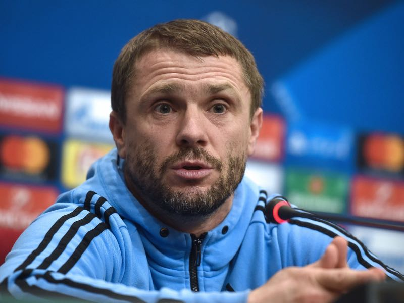 Serhiy Rebrov has to explain another Ukrainian Derby defeat. (GENYA SAVILOV/AFP/Getty Images)
