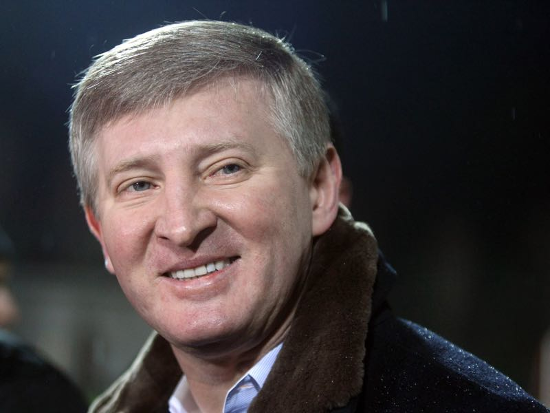 Not all Metalist fans were happy with Rinat Akhmetov's decision to move Shakhtar to Kharkiv. (Alexander KHUDOTEPLY/AFP/Getty Images)