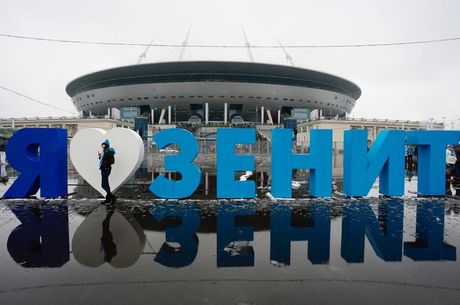 The Krestovsky Stadium will be the new permanent home of Zenit Saint Petersburg. (OLGA MALTSEVA/AFP/Getty Images)