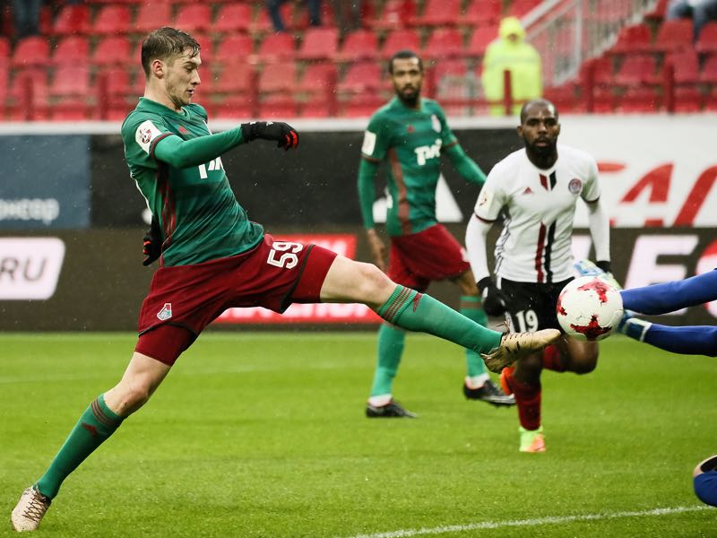 Aleksei Miranchuk has led Lokomotiv to their seventh Russian Cup victory. (Photo by Epsilon/Getty Images)