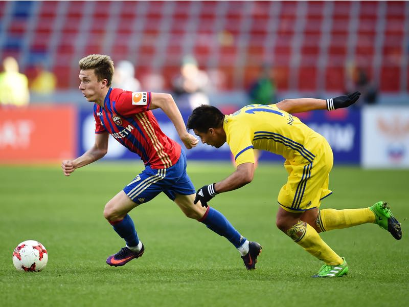 CSKA's Aleksandr Golovin (l.) is one to watch. (Photo by Epsilon/Getty Images)