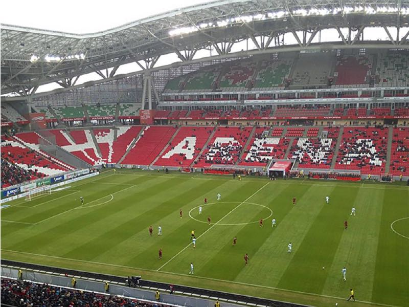 Poor Russian Football Premier League attendance numbers have been represented by Rubin Kazan's latest home game. Image by Sports.ru