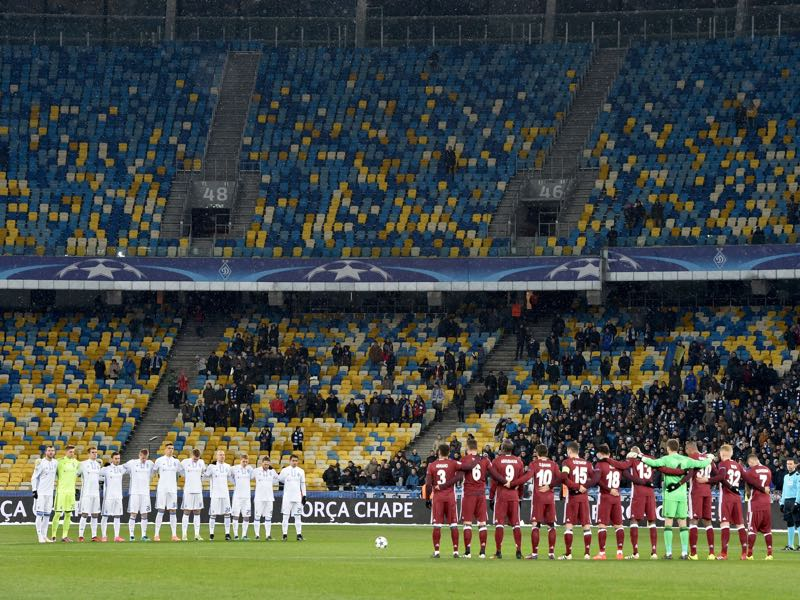 Dynamo Kyiv has struggled for the most part to sell out its stadium this season. SERGEI SUPINSKY/AFP/Getty Images)