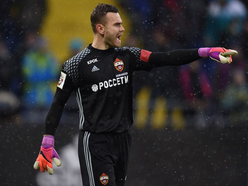 Igor Akinfeev will have to show that he can still be Russia's starting goalkeeper. (Photo by Epsilon/Getty Images)