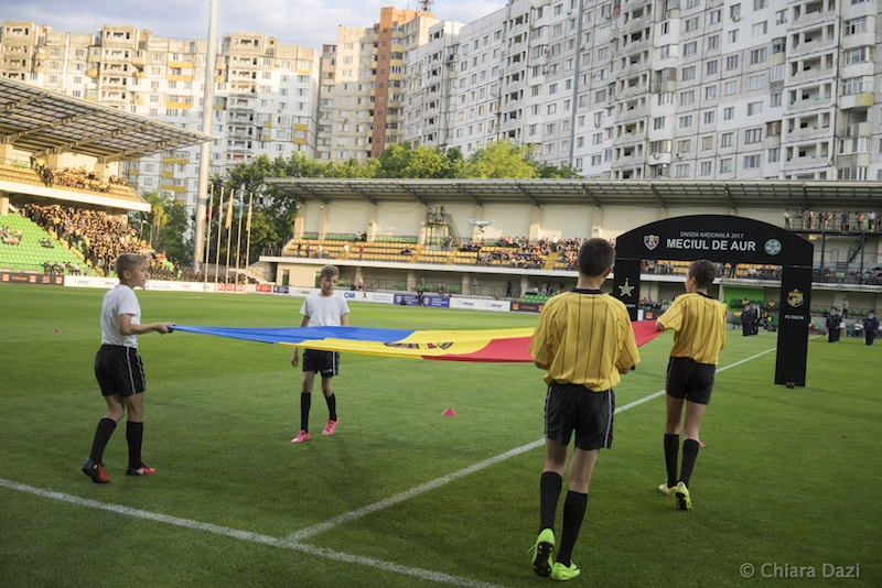 The Golden Finale between Dacia and Sheriff took place at the Zimbru Stadium in Chișinău. Image by Chiara Dazi