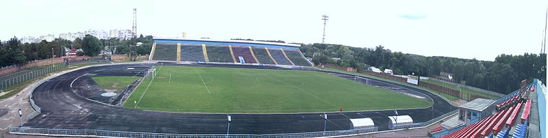 There will be no Ukrainian Premier League football at the Yuri Gagarin Stadium in  Chernihiv. Image by Fordman CC-BY-SA-3.0