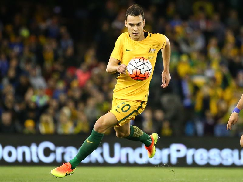 Inter Milan's Trent Sainsbury anchors Australia's defence. (Photo by Scott Barbour/Getty Images)