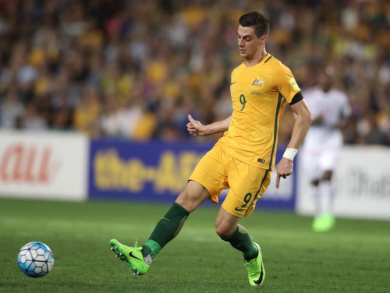 Tomi Juric believes in the system set out by Australia's coaching staff. (Photo by Mark Kolbe/Getty Images)