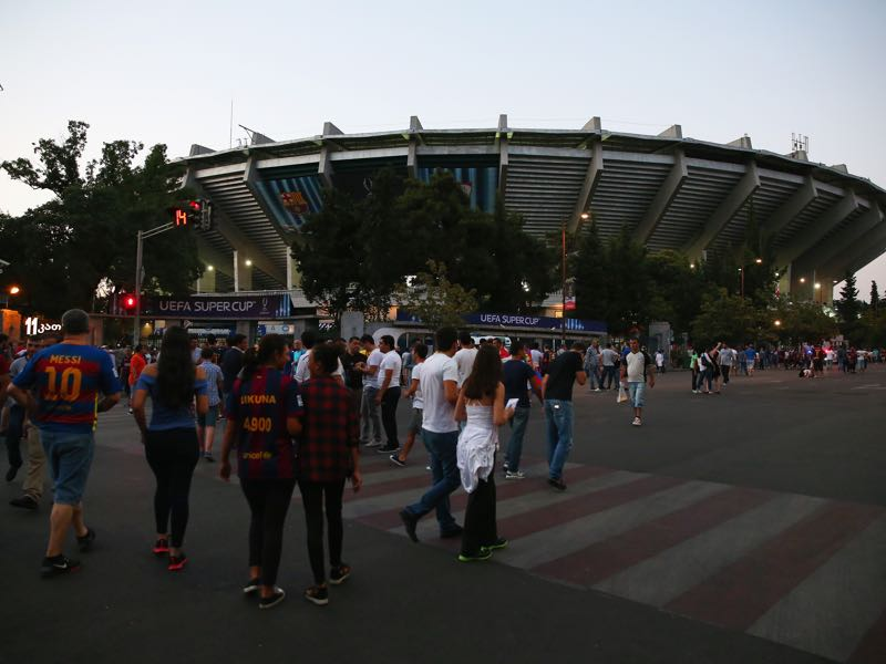 Tbilisi hosting the European Super Cup between Barcelona and Sevilla has been the closest the city has come to top football since the fall of the Soviet Union. (Photo by Chris Brunskill/Getty Images)