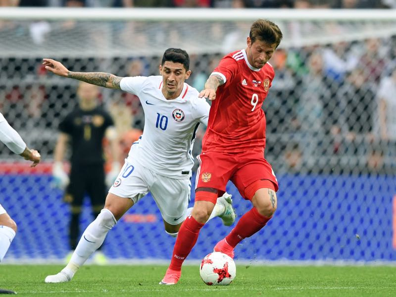 Fedor Smolov is Russia's biggest potential star. (NATALIA KOLESNIKOVA/AFP/Getty Images)
