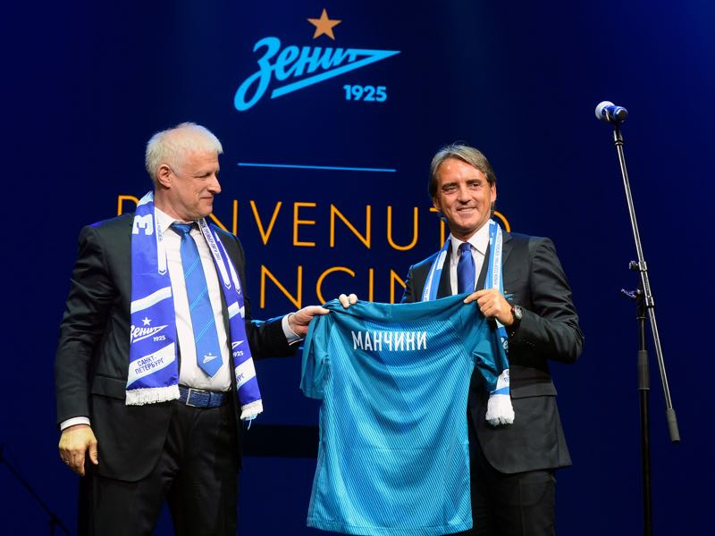 With Roberto Mancini in charge Zenit will continue to think big. (OLGA MALTSEVA/AFP/Getty Images)