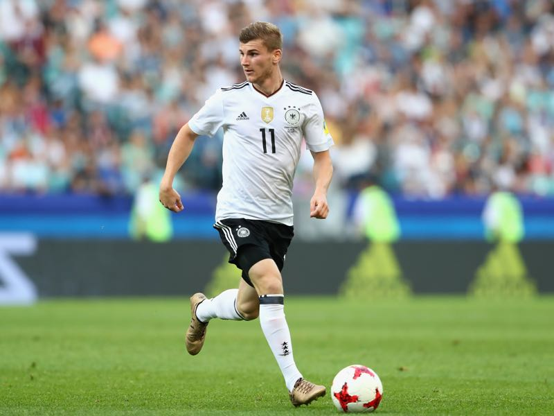 Timo Werner scored two brilliant goals against Cameroon. (Photo by Alexander Hassenstein/Bongarts/Getty Images)