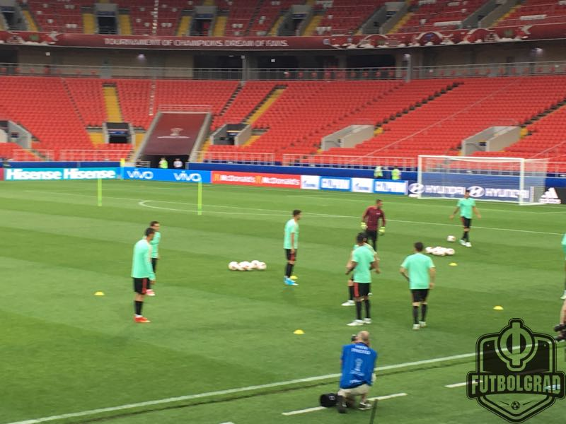 Russia v Portugal Ronaldo training