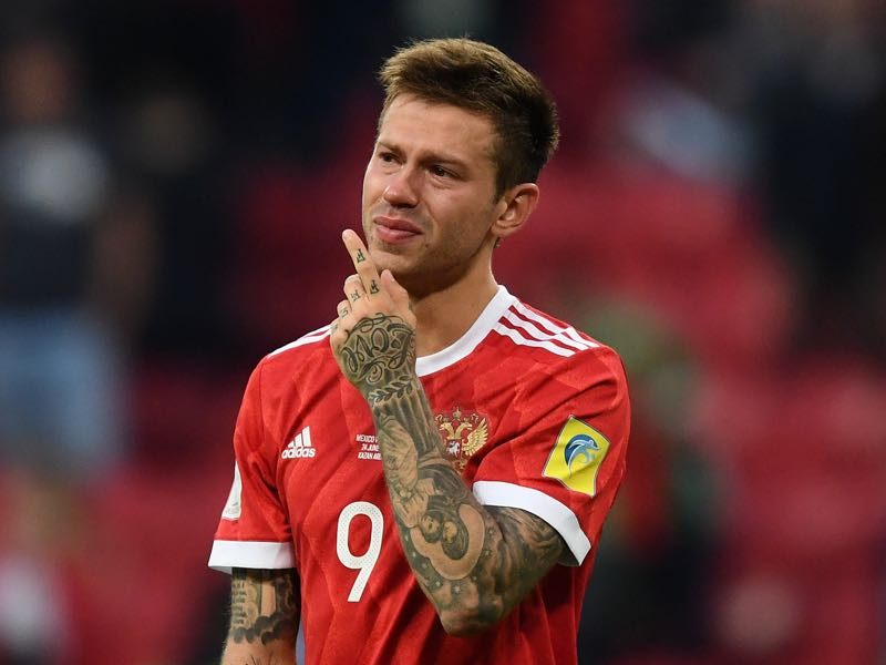 Smolov had a disappointing 2017 FIFA Confederations Cup. Aleksandr Kokorin is one example of a player who has taken the easy route by staying in Russia. (Photo by Epsilon/Getty Images)