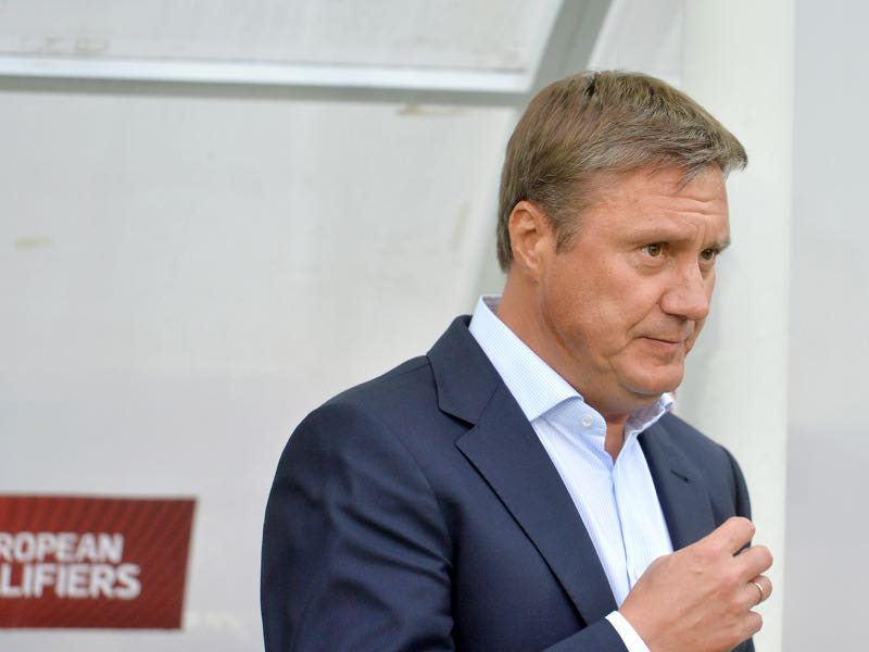Coaching Dynamo Kyiv will be a big step up for Khatskevich from his previous job as the head coach of Belarus. (GENYA SAVILOV/AFP/Getty Images)