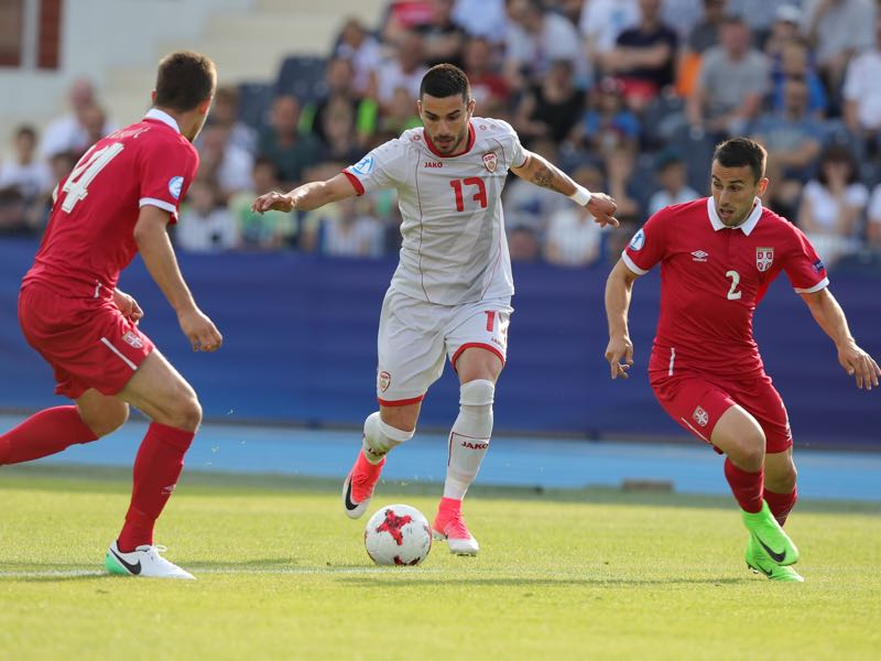 Serbia disappointed against Macedonia at the U-21 European Championship (ROMAN BOSIACKI/AFP/Getty Images)
