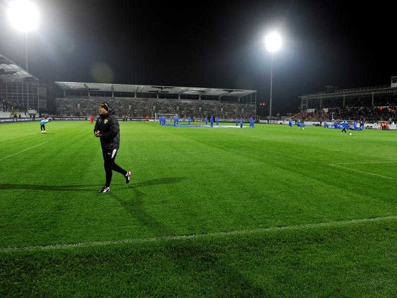 Astra Giurgiu vs Oleksandriya will take place at the Stadionul Marin Anastasovici. (Photo by Radu Tuta/EuroFootball/Getty Images)