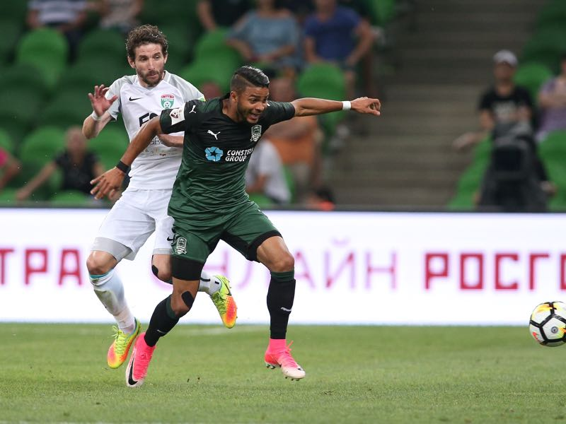 Wanderson (r.) will be Krasnodar's player to watch. (Photo by Epsilon/Getty Images)