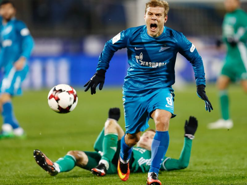 Aleksandr Kokorin is one example of a player who has taken the easy route by staying in Russia. (Photo by Epsilon/Getty Images)