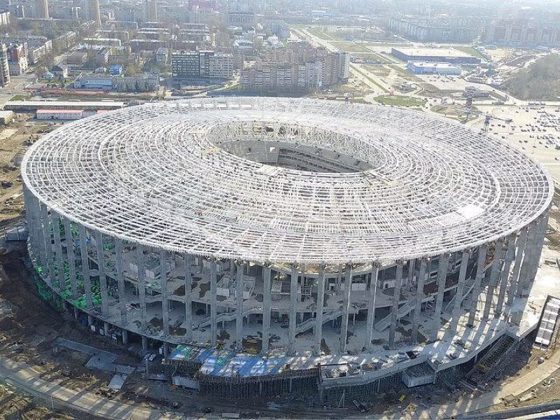 Olimpiyets Nizhny Novgorod are scheduled to play at the Nizhny Novgorod Stadium following the World Cup in Russia (Image via the Organization Committee)