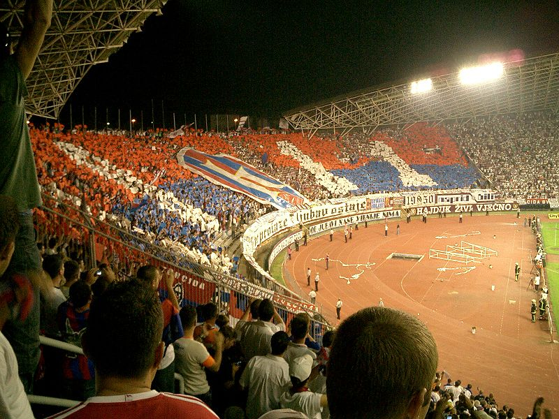 Hajduk's Toricida are known for the colourful displays and their fanaticism.