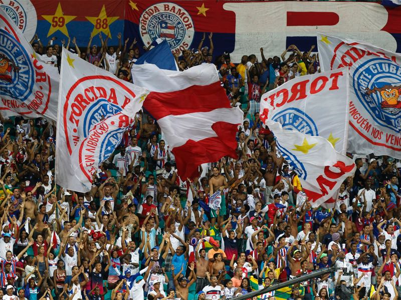 Hajduk fans named themselves after the fanatic Brazilian Torcida fan groups (pictured). (Photo by Felipe Oliveira/Getty Images)