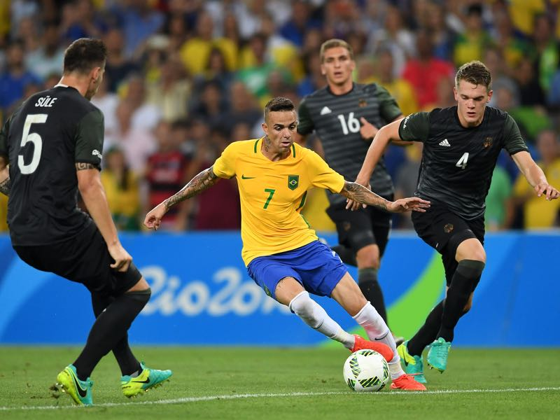 Luan was part of the Brazil squad that defeated Germany at the Olympic final in Rio de Janeiro.  (Photo by Laurence Griffiths/Getty Images)