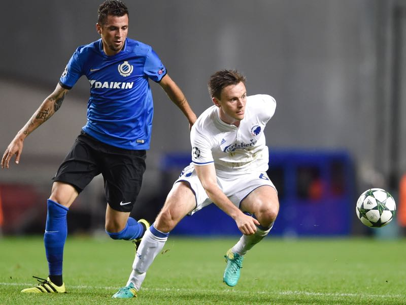 William Kvist (r.) is Copenhagen's most experienced player. (LISELOTTE SABROE/AFP/Getty Images)