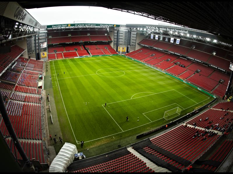 Copenhagen vs Lokomotiv Moscow will take place at the Parken in Copenhagen. (Photo by Klaus Sletting Jensen/EuroFootball/Getty Images)