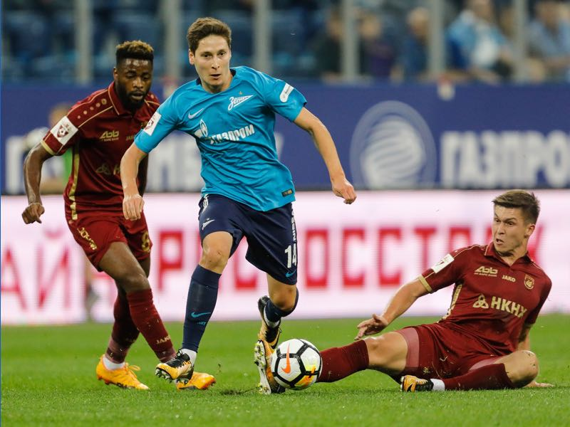 Daler Kuzyaev has been a revelation for Zenit this season. (Photo by Epsilon/Getty Images)