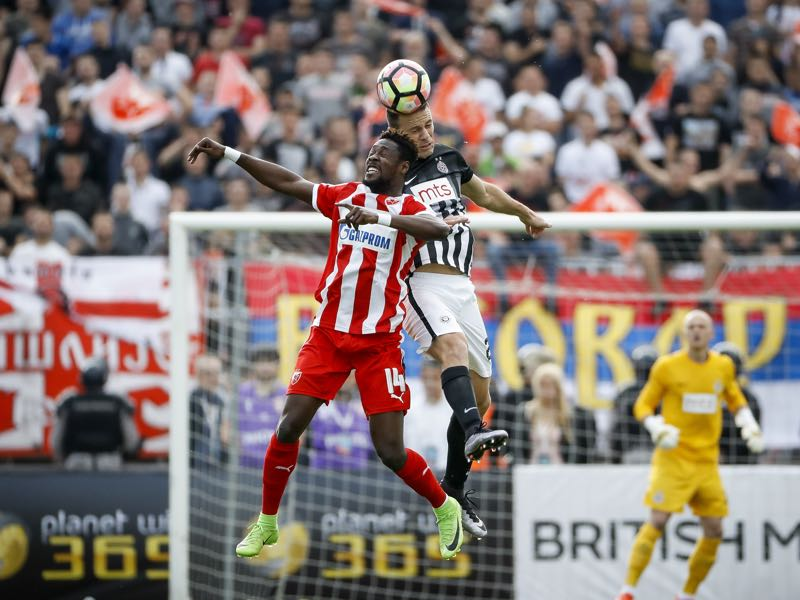 Richmond Boakye was sensational against rivals Partizan. (Photo by Srdjan Stevanovic/Getty Images)
