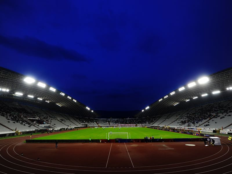 Hajduk Split vs Everton will take place at the Poljud Stadion in Split. (Photo by EuroFootball/Getty Images)