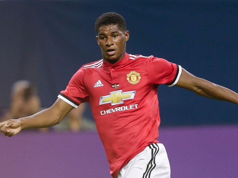 Marcus Rashford in action for Manchester United at the International Champions Cup. (Photo by Bob Levey/Getty Images)