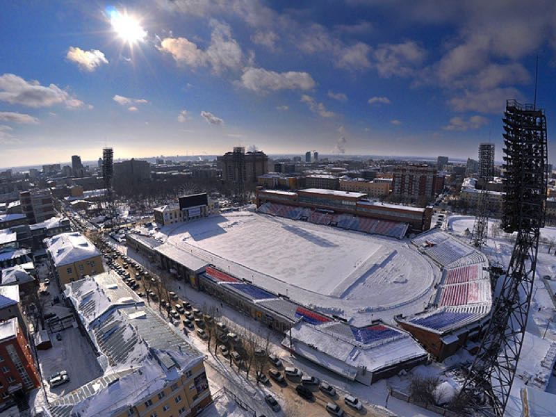The Spartak Stadium in Novosibirsk.