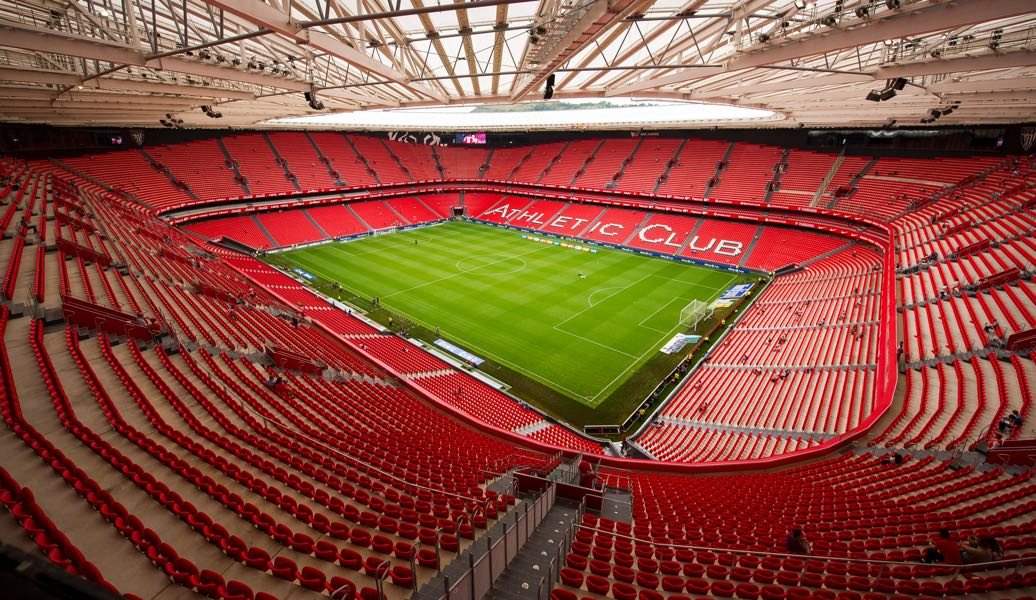 Athletic Bilbao vs Spartak Moscow will take place at the San Mames in Bilbao. (Photo by Juan Manuel Serrano Arce/Getty Images)