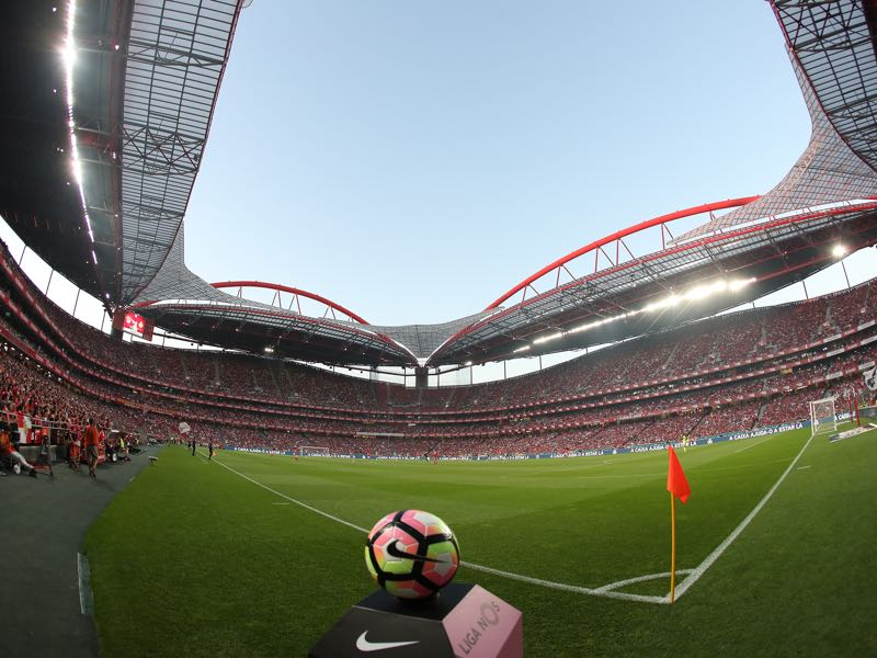 Benfica vs Dinamo Zagreb will take place at the Stadium da Luz in Lisbon. (Photo by Carlos Rodrigues/Getty Images)